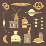 Bread icons Stock Photos
