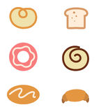 Bread icons Royalty Free Stock Photos