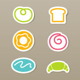 Bread icons Stock Photography