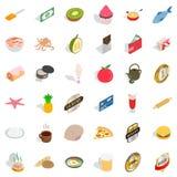 Bread icons set, isometric style Royalty Free Stock Image