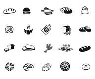 Bread icons. Bread set of vector black icon on white background stock illustration