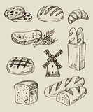 Bread icons Stock Image