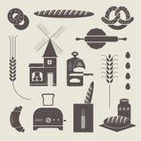 Bread icons Stock Photo