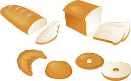 Bread illustration Royalty Free Stock Photography