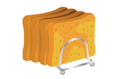 Bread illustration Royalty Free Stock Images