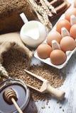 Bread ingredients Stock Image