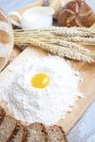 Bread ingredients Stock Images