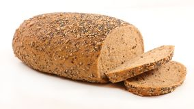 Bread isolated. On white background stock images