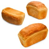 Bread isolated food loaf bakery set baguett Royalty Free Stock Photography