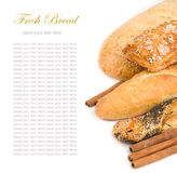Bread isolated over white Stock Image