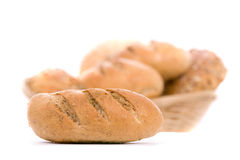 Bread, isolated on white Stock Photography