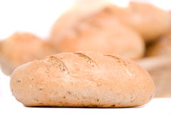 Bread, isolated on white Royalty Free Stock Photos