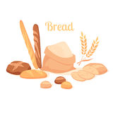 Bread isolated on white background. vector illustration