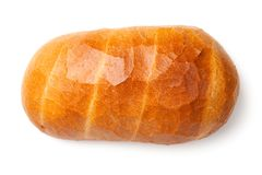 Bread Isolated on White Background. Top view Royalty Free Stock Images