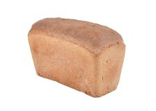 Bread isolated on white backgroung Royalty Free Stock Photo