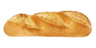Bread isolated on white - side view - 3d. Rendering vector illustration