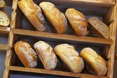 Bread in italian bakery Royalty Free Stock Images