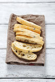 Bread, italian ciabatta on a napkin Royalty Free Stock Photo