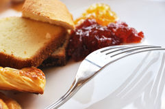 Bread and jam Stock Photography