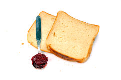 Bread and jam Royalty Free Stock Photo