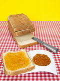 Bread and jam Royalty Free Stock Image