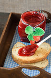 Bread with jam for breakfast Royalty Free Stock Photography