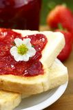Bread with jam Royalty Free Stock Image
