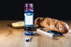 Bread and Jam Royalty Free Stock Photos