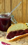 Bread with jam Royalty Free Stock Photography