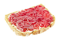 Bread with jam Stock Image