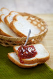 Bread and jam Royalty Free Stock Images