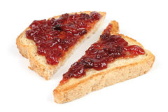 Bread with jam Stock Images