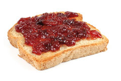 Bread with jam Stock Photography