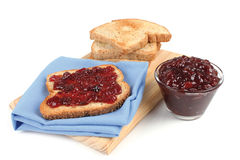 Bread with jam Royalty Free Stock Images