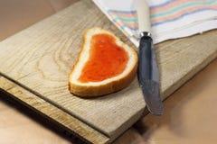 Bread with jam Stock Photo