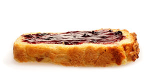 Bread with jelly Royalty Free Stock Images