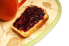 Bread with jelly Royalty Free Stock Photography