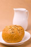 Bread and jug of milk Royalty Free Stock Photo