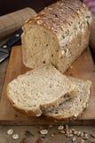 Bread kitchen. Still life of dark bread loaf on table Stock Image