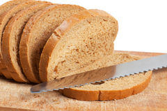 Bread and knife Stock Photos