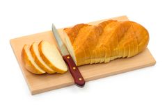Bread and knife Stock Photography