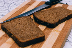 Bread And Knife Royalty Free Stock Image