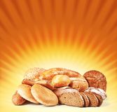 Bread on light background Royalty Free Stock Photos