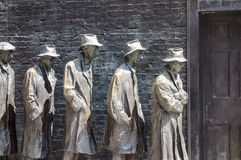 Bread Line At Roosevelt Memorial Stock Photos