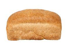 Bread Loaf. Whole wheat loaf of bread isolated on white background stock image