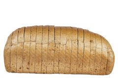 Bread loaf. Cut loaf of bread isolated on white background Royalty Free Stock Image