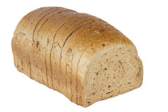 Bread loaf. Cut loaf of bread isolated on white background Stock Photography