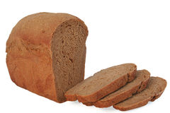 Bread loaf. Bread on a white background Royalty Free Stock Photography