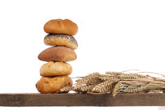 Bread Loaf And Buns On A Shelf Royalty Free Stock Image