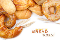 Bread, loaf, baguette, bagel, wheat Royalty Free Stock Images